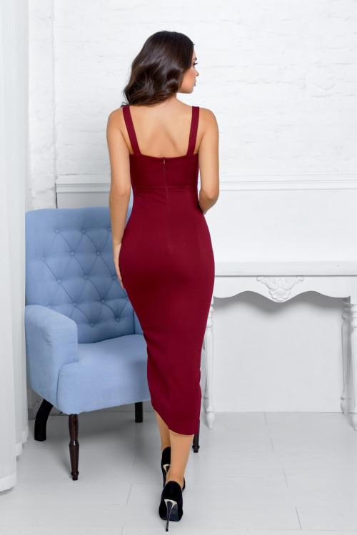 Платье 3473 марсал