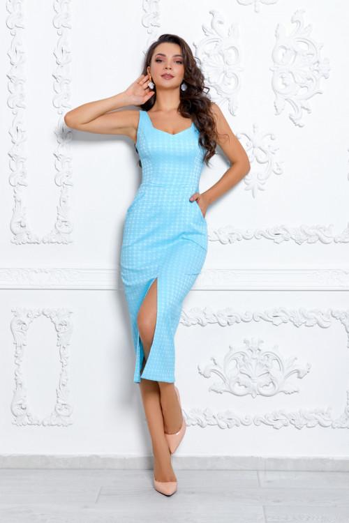 Платье 3529 голубой