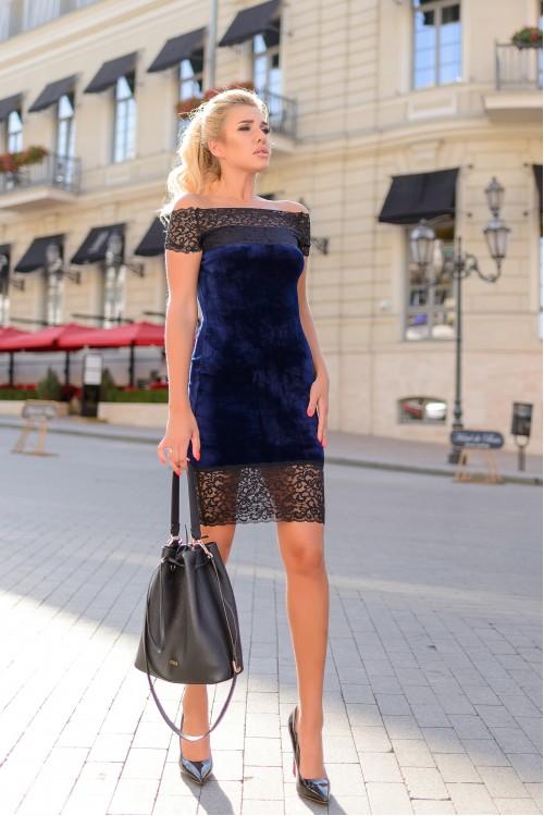 Платье 3334 синий