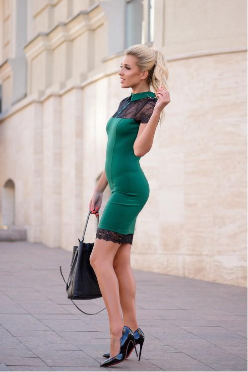 Платье 3347 бутылочный
