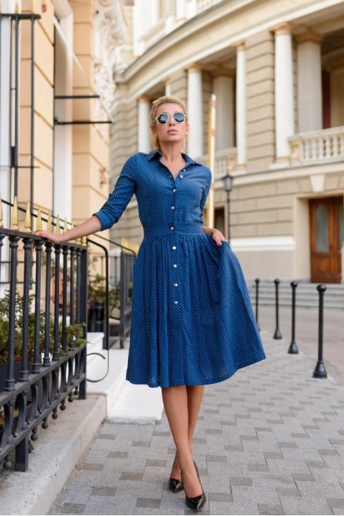 Платье 3385 синий