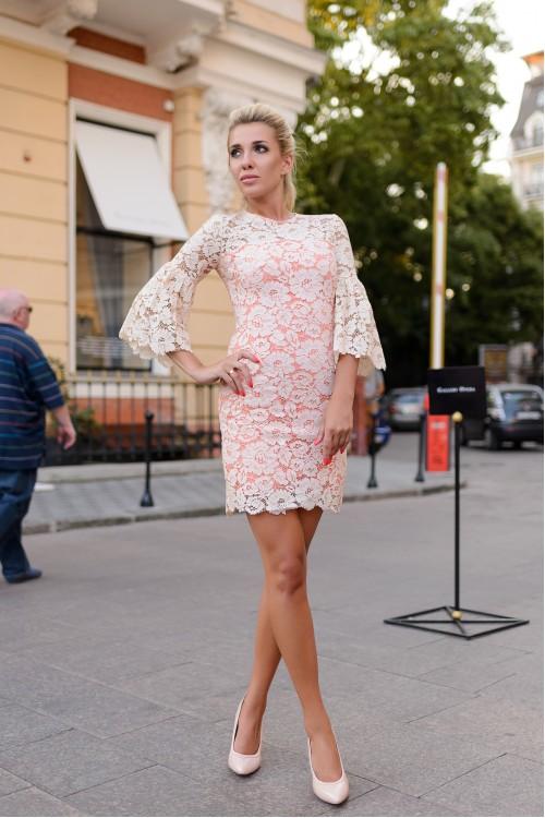 Платье 3355 персик