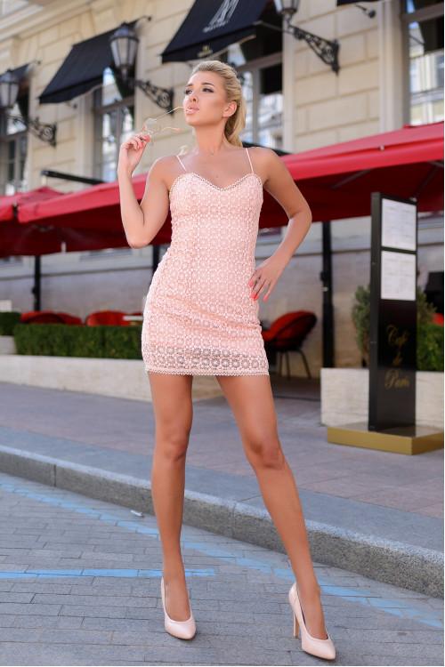 Платье 3426 персик