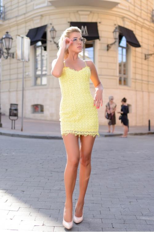 Платье 3426 желтый