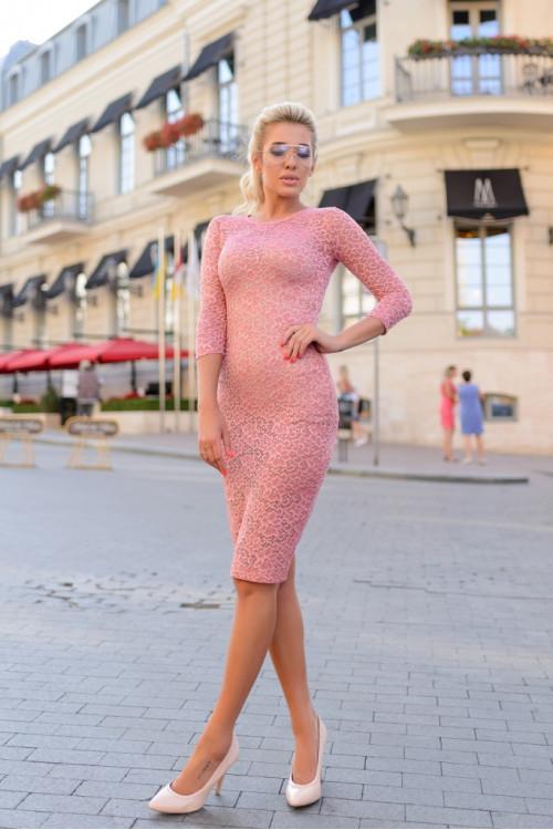 Платье 3386 персик