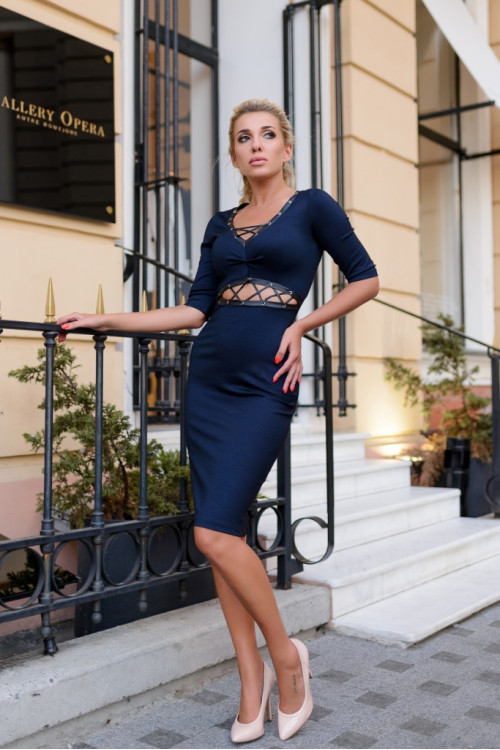 Платье 3410 синий