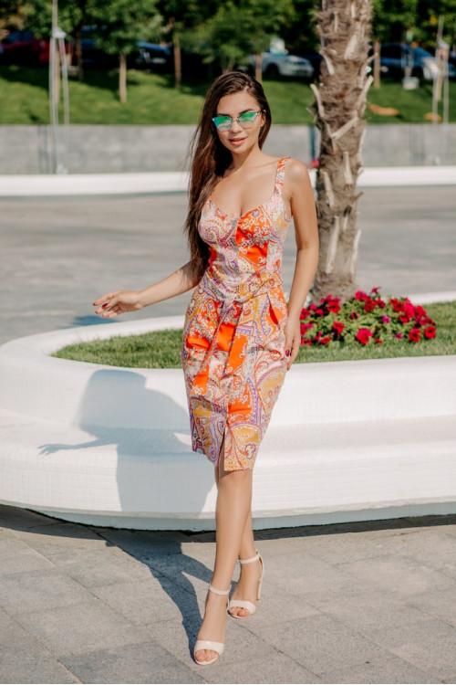 Платье 3465 коралл