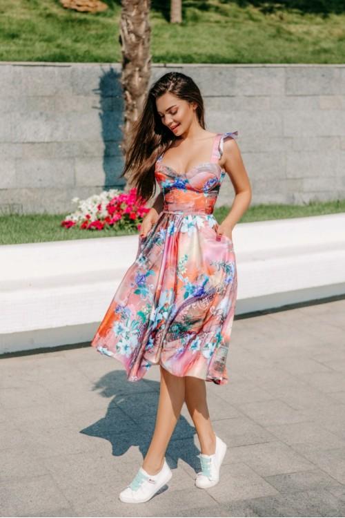 Платье 3463 розовый