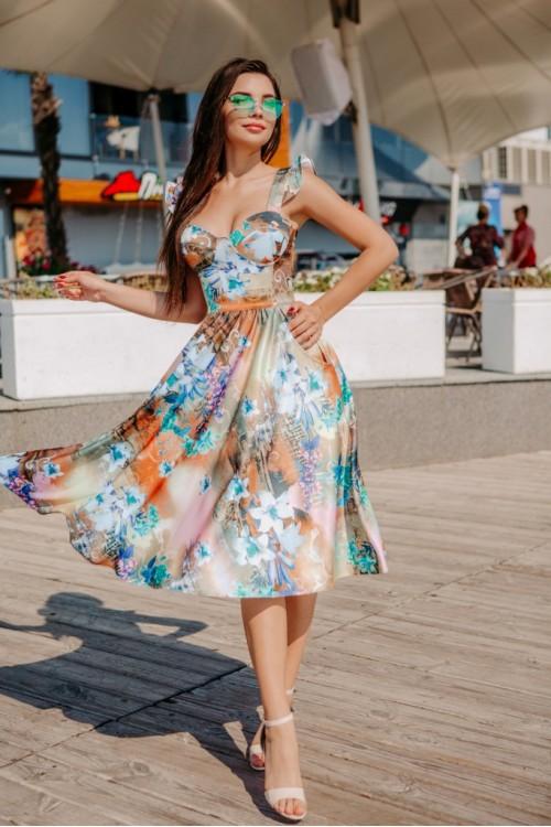 Платье 3463 бирюза