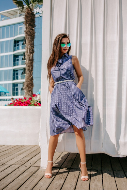 Платье 3461 синий