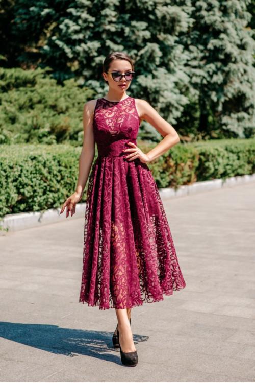 Платье 3412 марсал