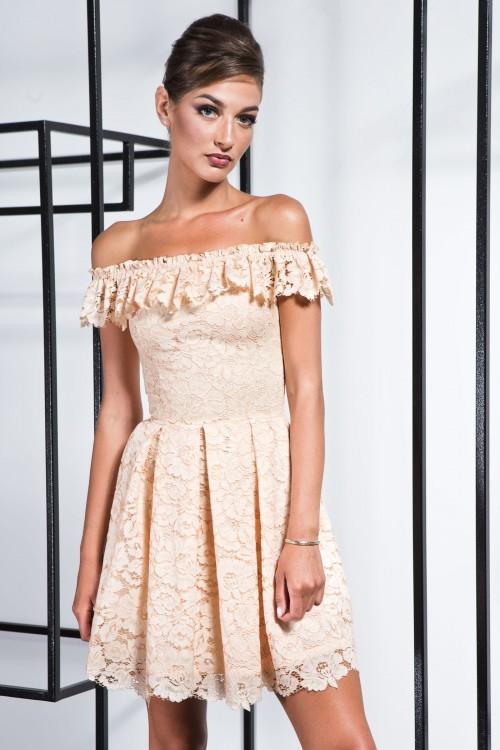 Платье 3371 персик