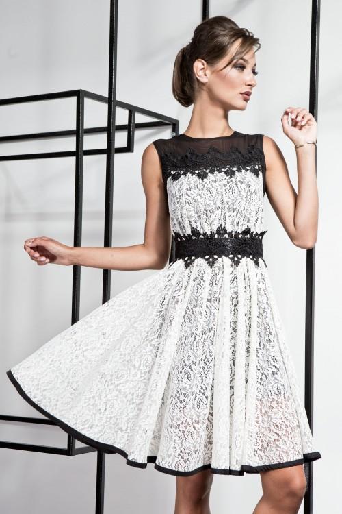 Платье 3366 черно-белый