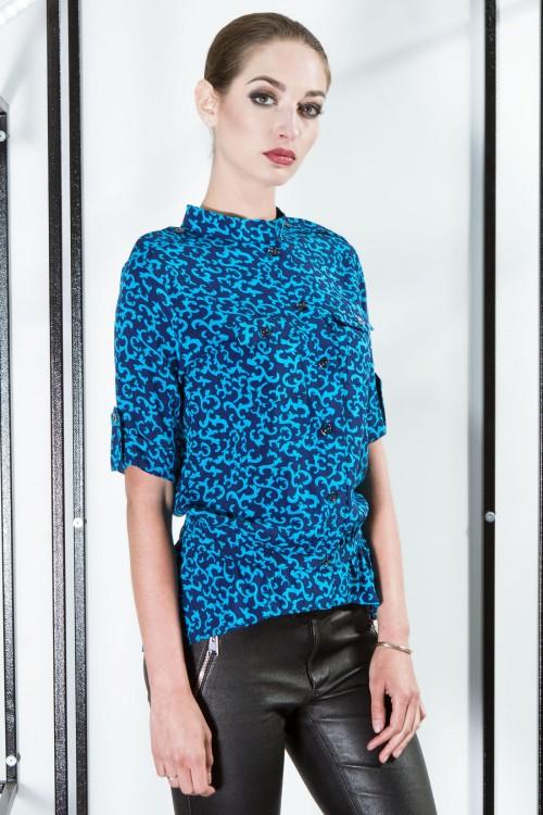 Рубашка 2052 бирюза