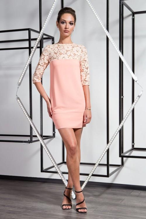 Платье 3361 персик