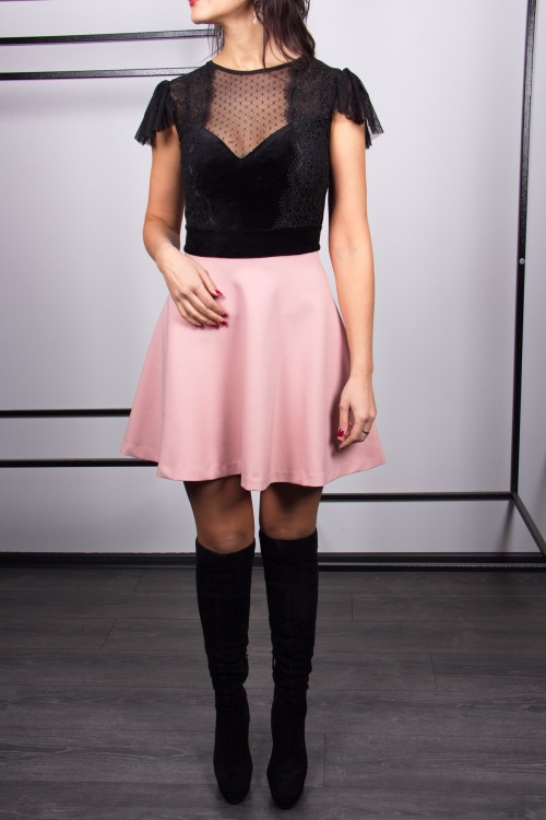 Платье 3407 пудра