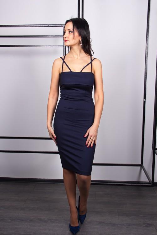 Платье 3409 синий
