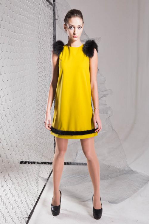 Платье 3320 горчица