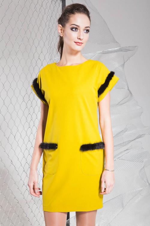 Платье 3319 горчица
