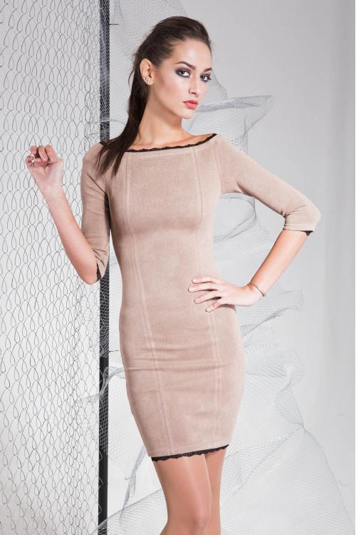 Платье 3317 кофейный