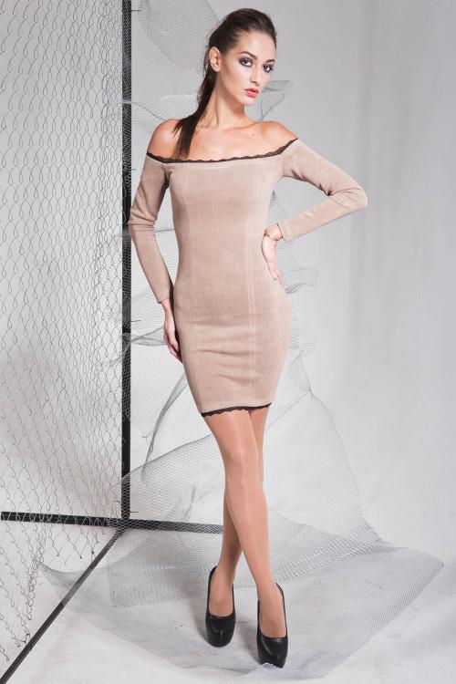 Платье 3318 кофейный