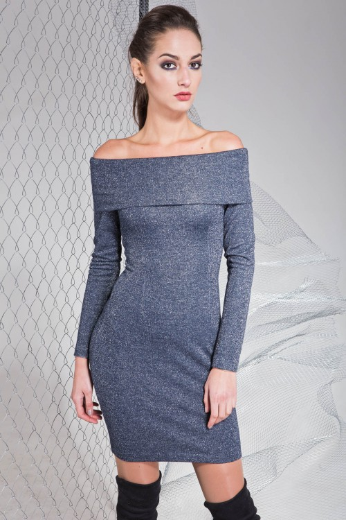 Платье 3322 темно синий