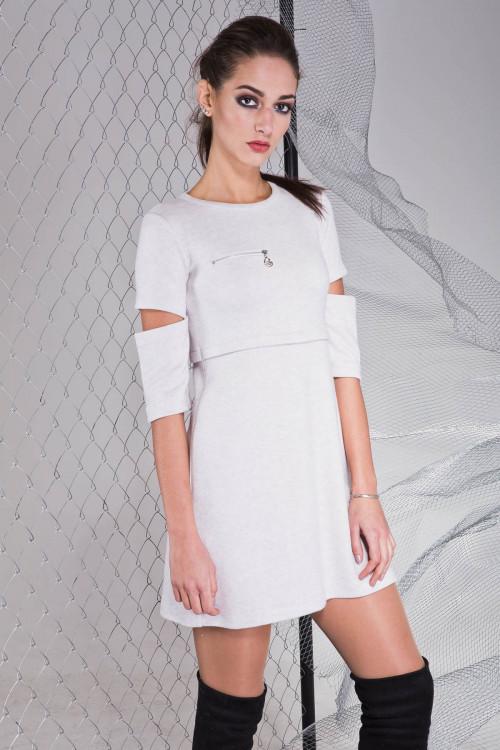 Платье 3313 серый