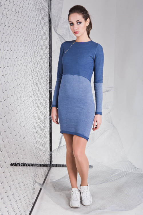 Платье 3321 синий