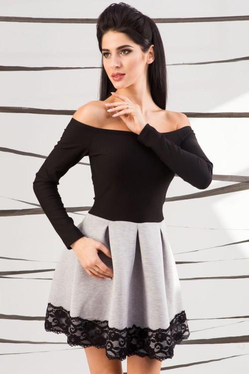 Платье 01-37 серый