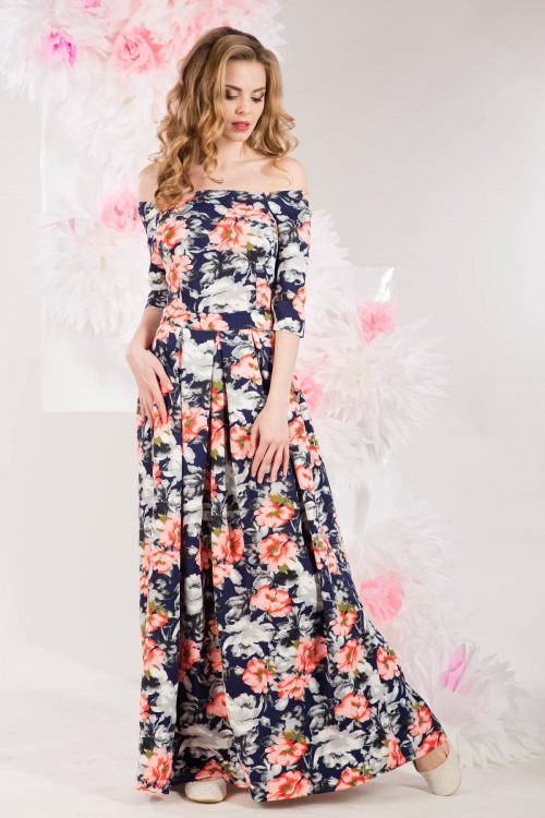 Платье 3217 коралловое