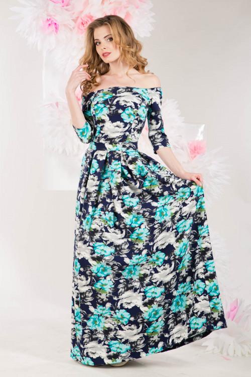 Платье 3217 бирюзовое