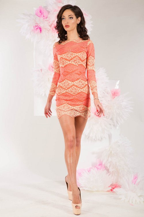 Платье 3275 персиковое