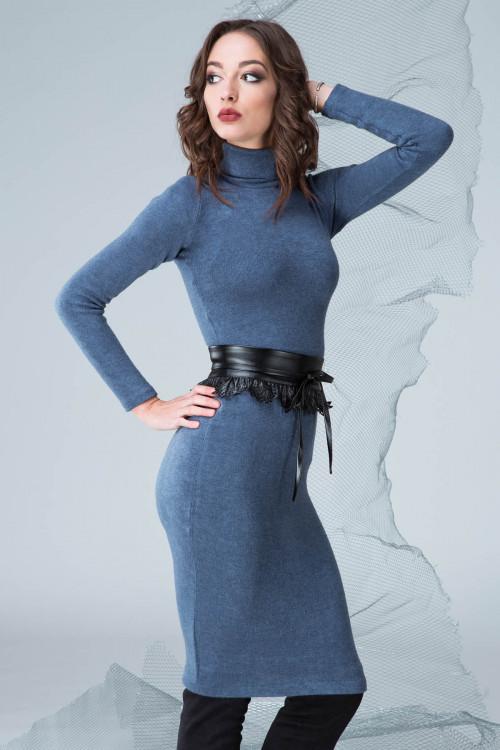Платье 3330 синий
