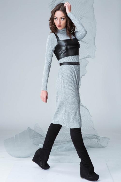 Платье 3326 серый