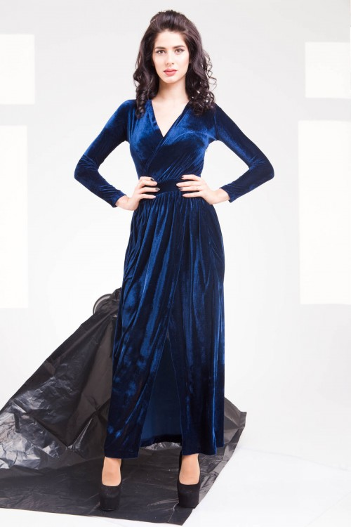 Платье 01-60 синий