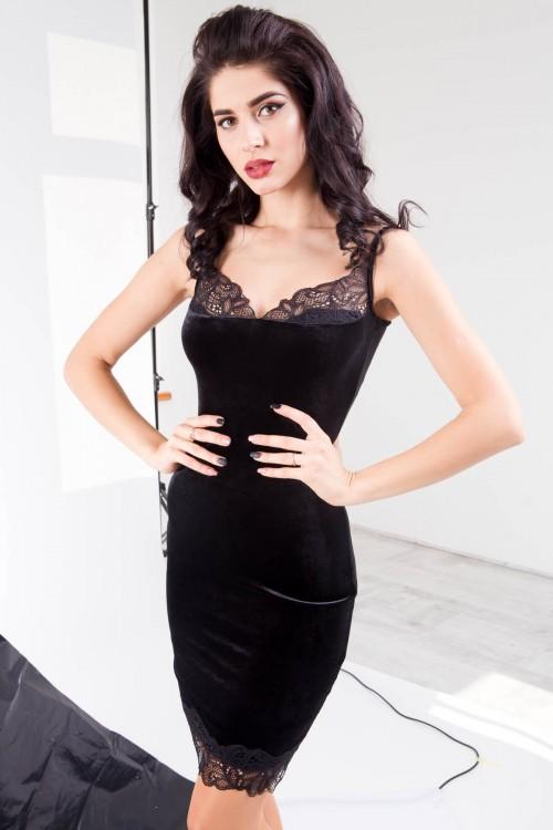 Платье 01-58 черный