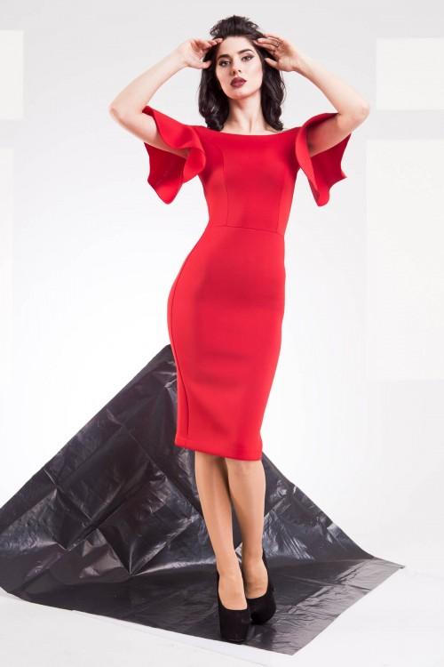 Платье 01-43 красный