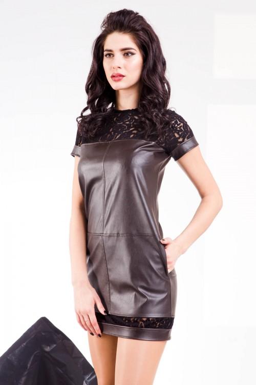 Платье 64-02 коричневый