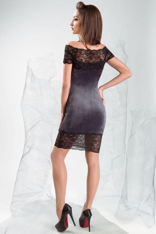 Платье 3334 серый