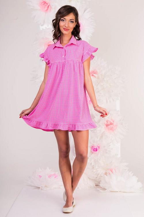 Платье-рубашка 3290 розовое