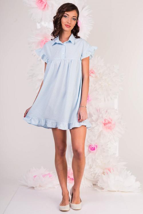 Платье-рубашка 3290 голубое
