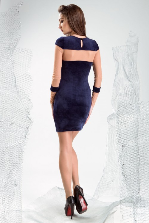 Платье 3336 синий