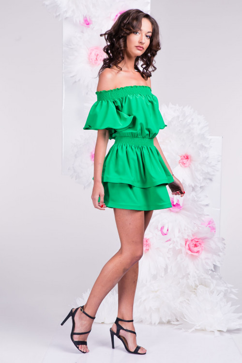 Платье 3289 зелёное