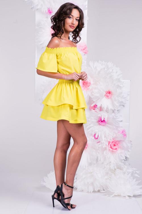 Платье 3289 жёлтое