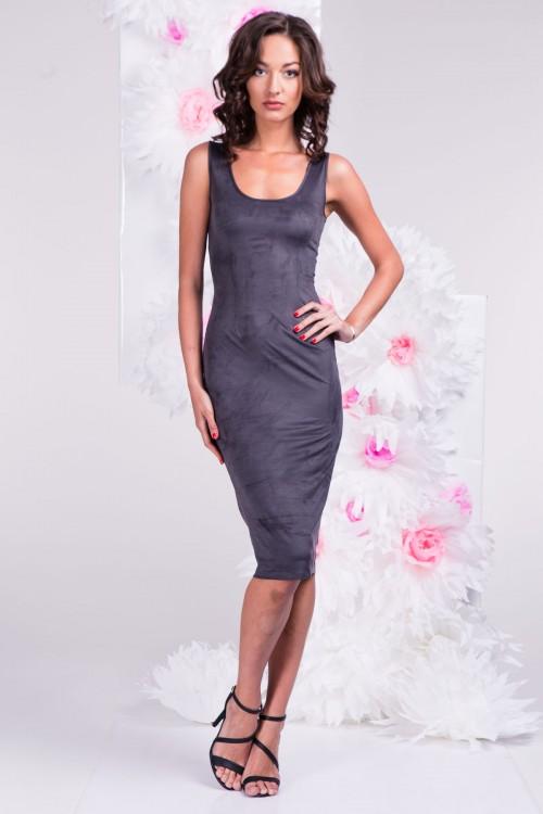 Платье 3291 тёмно-серое