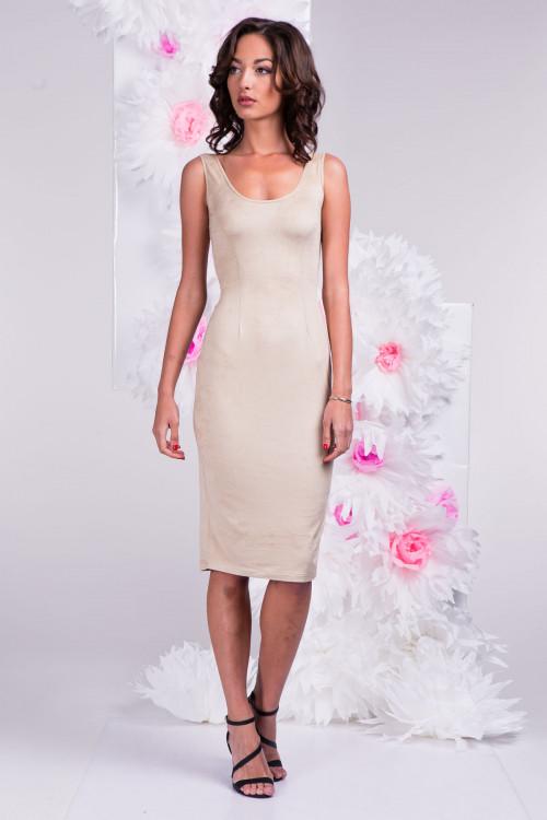 Платье 3291 бежевое