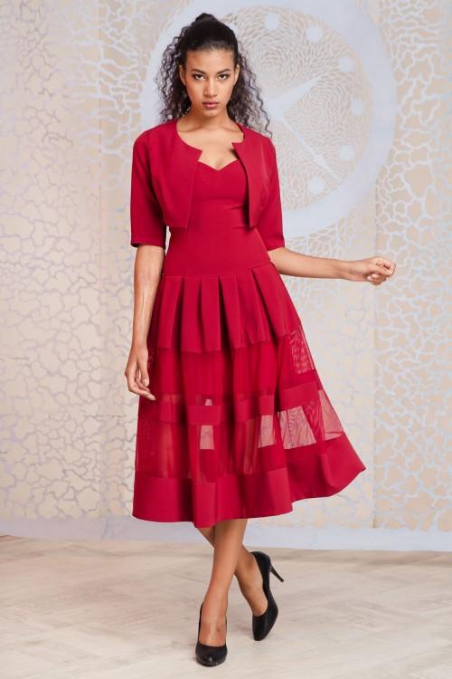 Платье+болеро 3309+2077 марсал