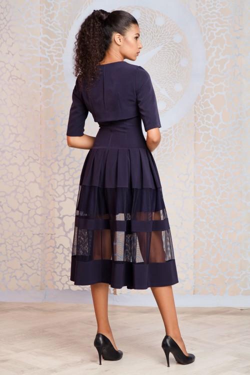Платье+болеро 3309+2077 синий