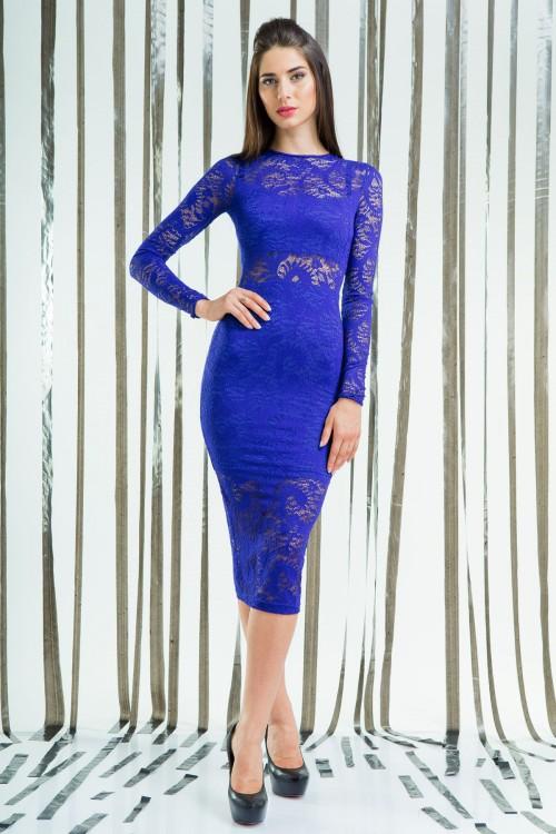 Платье 58-01 электрик