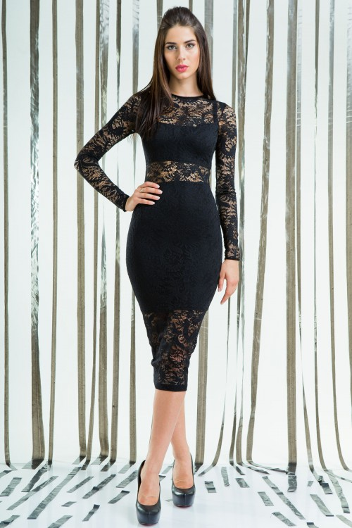 Платье 58-01 черный